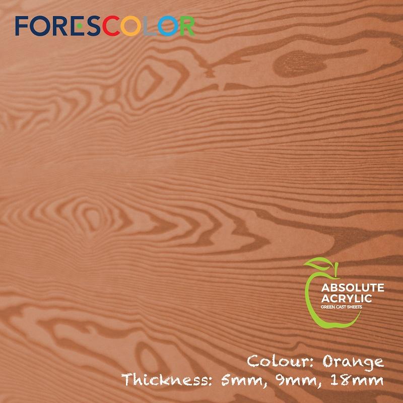 Embossed Orange wood